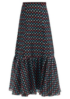 Erdem Claudena high-rise polka-dot organza midi skirt