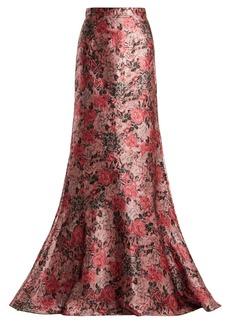 Erdem Clement rose-jacquard maxi skirt