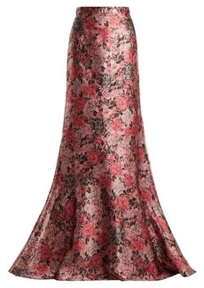 Erdem Clement rose-jacquard maxi skirt