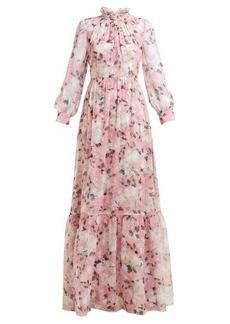 Erdem Clementine floral-print silk-voile gown