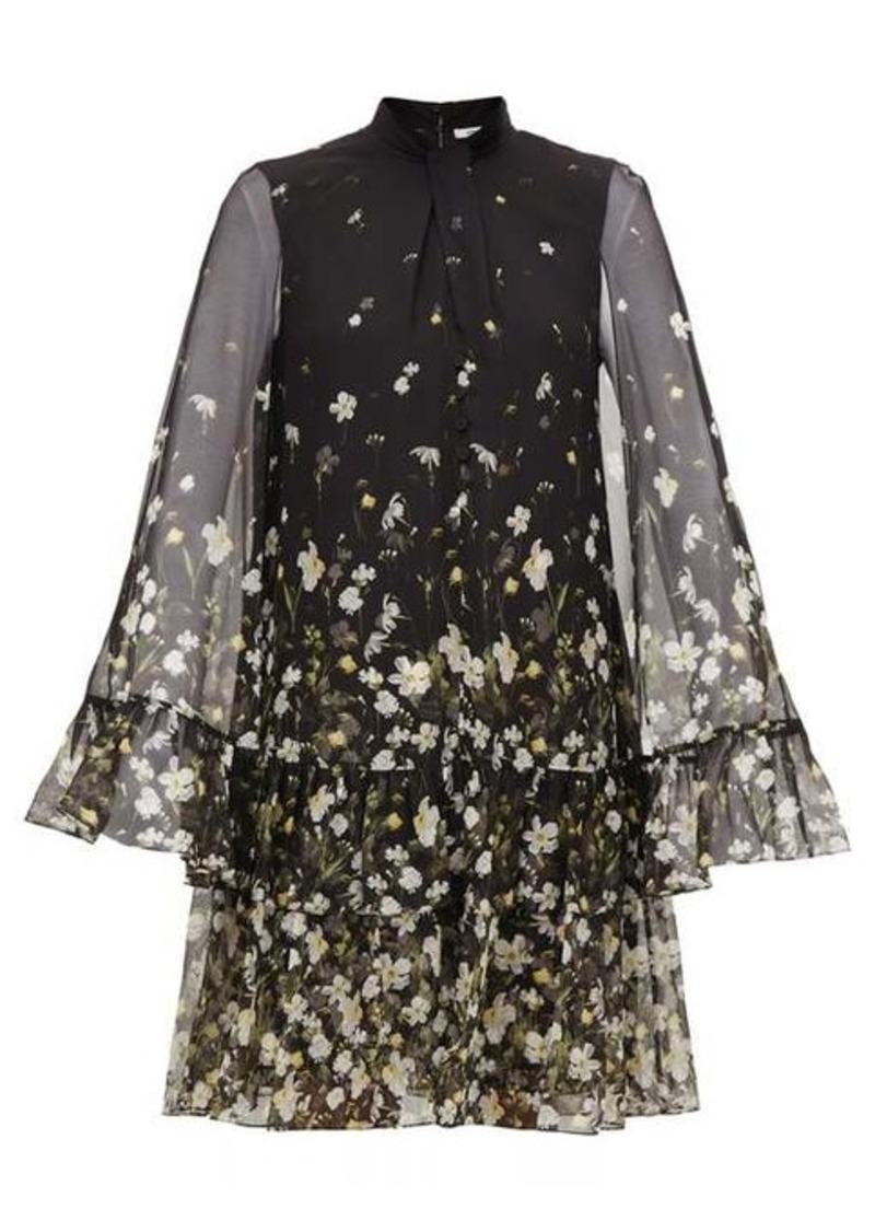Erdem Concetta Daffodil Ditsy-print silk-chiffon dress