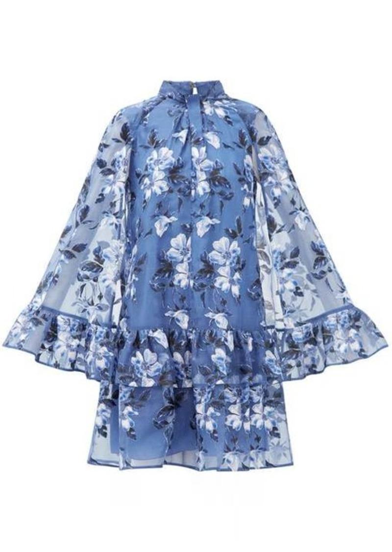 Erdem Concetta floral-embroidered organza mini dress