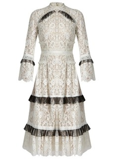Erdem Connie ruffle-trimmed floral-lace dress