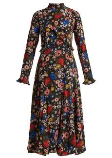 Erdem Cordelia Lismore Garden-print silk dress