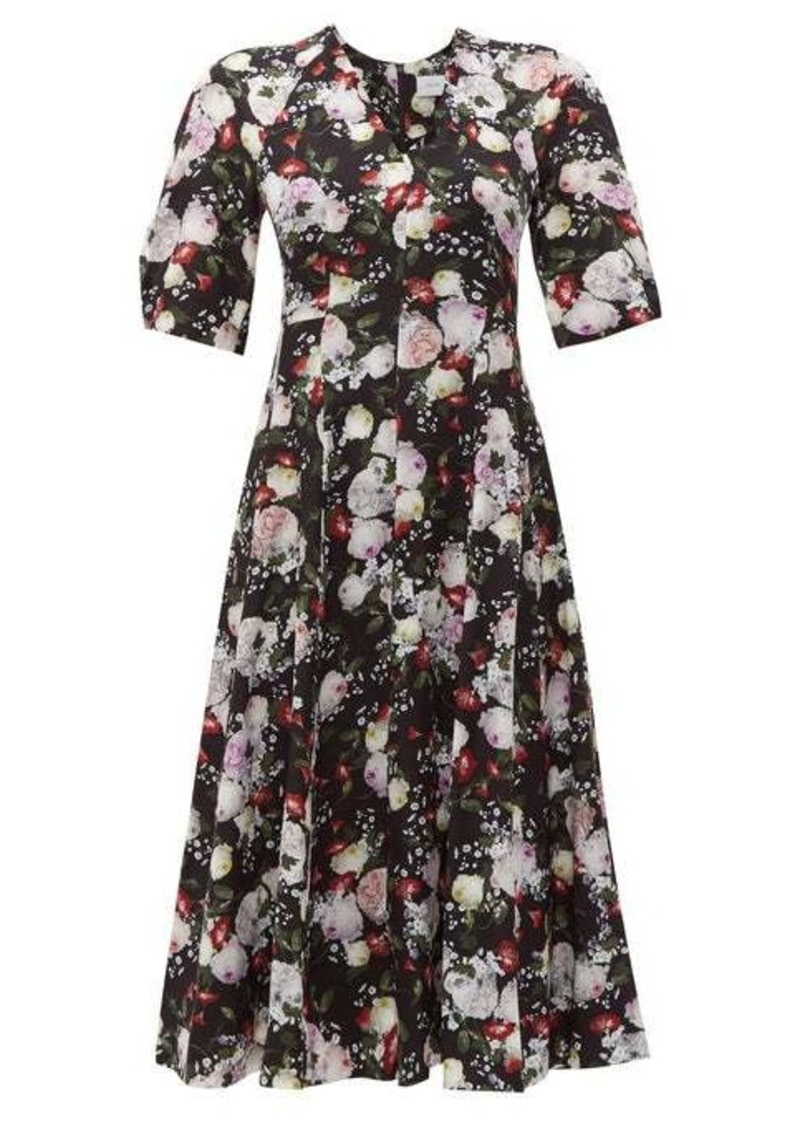 Erdem Cressida Clarence-print silk dress