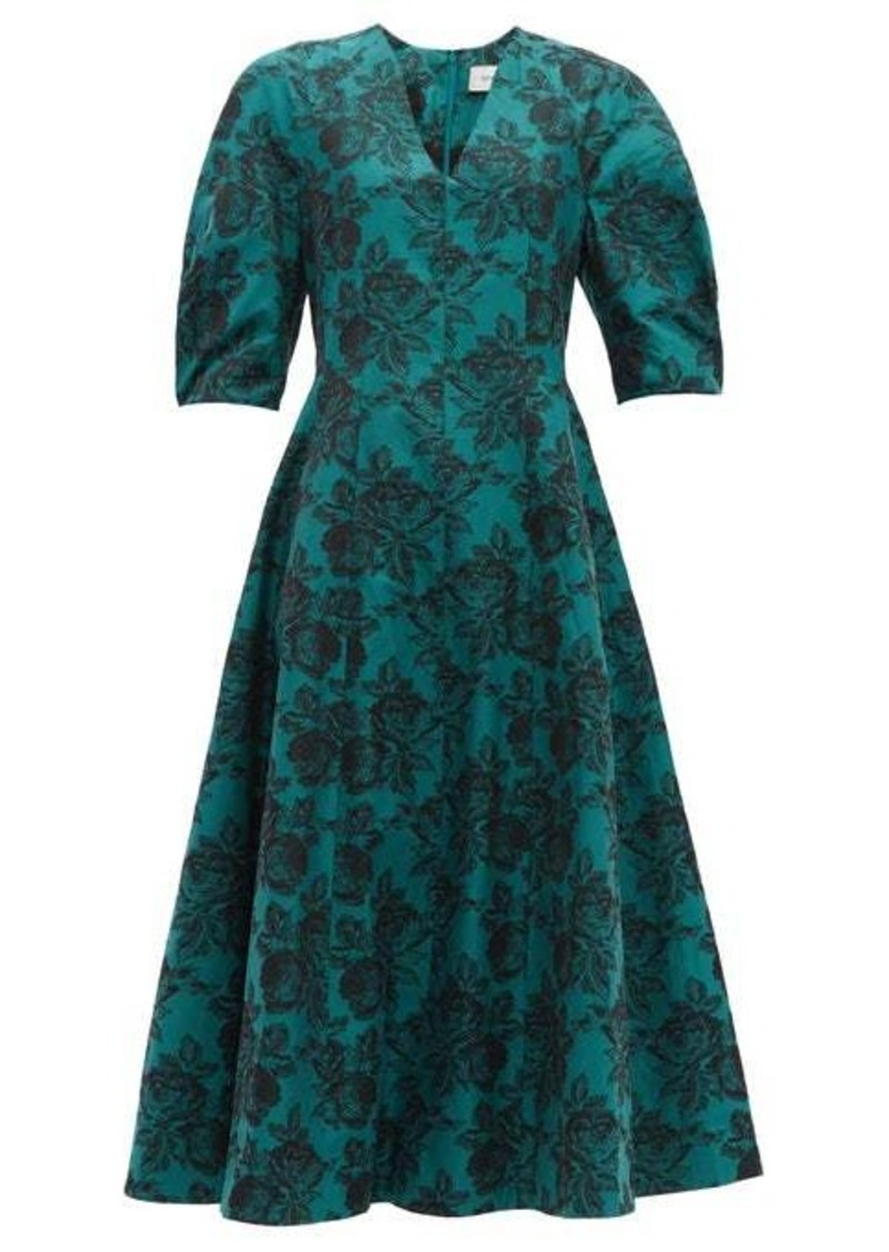 Erdem Cressida rose-jacquard cotton dress
