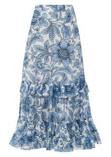 Erdem Danna Modotti Wallpaper cotton-blend skirt