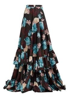 Erdem Darcy Bloomsbury floral-print silk skirt