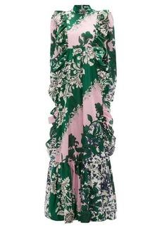 Erdem Darna Modotti Wallpaper-print cotton-blend dress