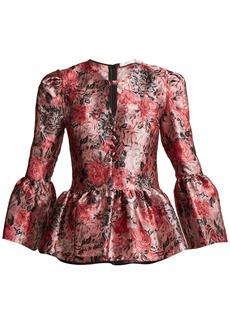 Erdem Demetria rose-jacquard blouse