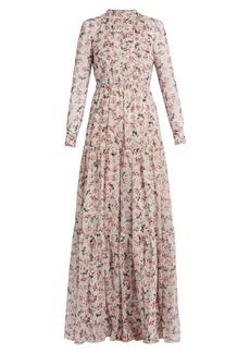 Erdem Denise floral-print silk-voile gown