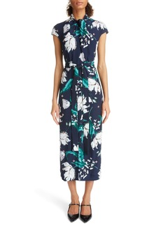 Erdem Embellished Floral Print Woven Dress
