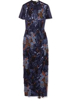 Erdem Emilie embellished sequined crepe midi dress