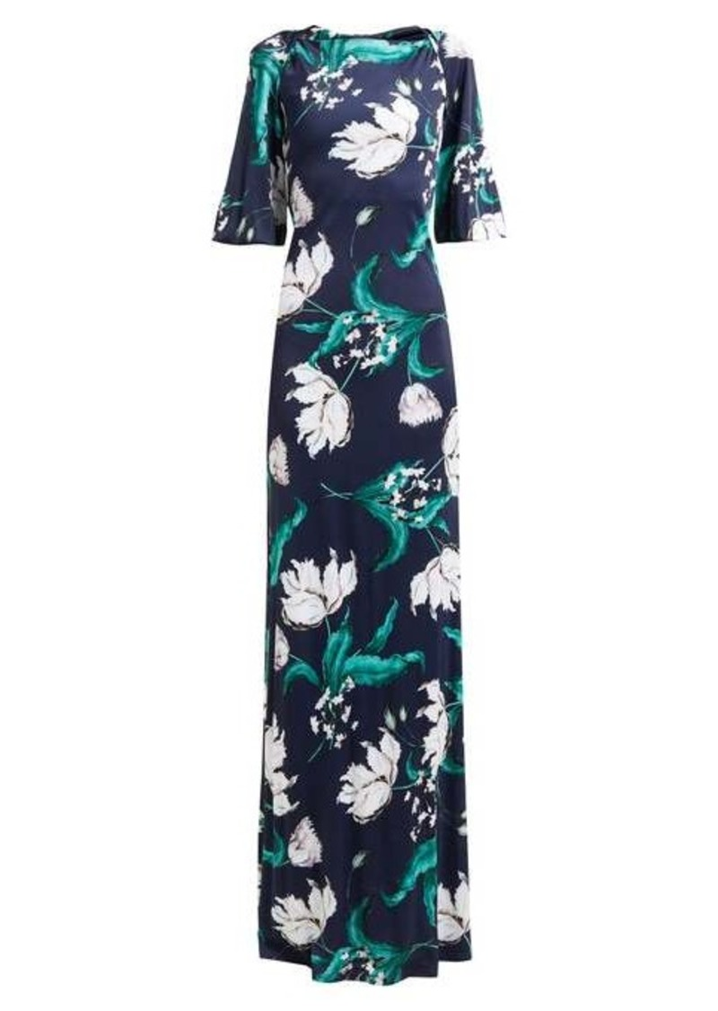 Erdem Ethelene Leighton floral-print jersey dress