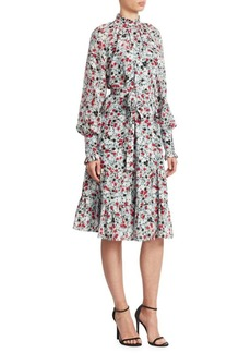 Erdem Eugenie Floral-Print A-Line Dress