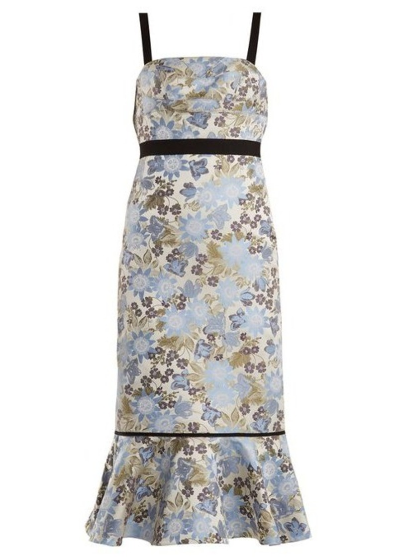 Erdem Eunice floral-jacquard dress