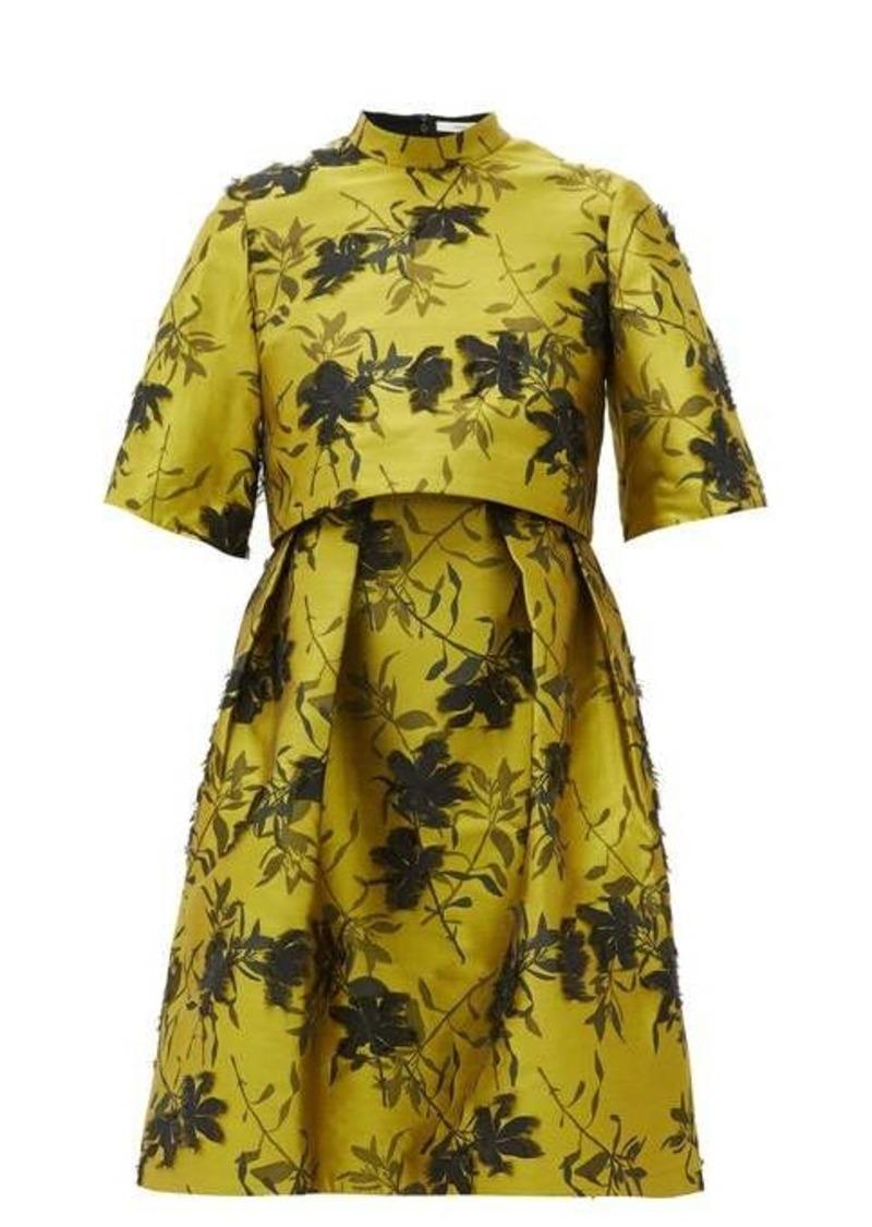 Erdem Favilla fil-coupé floral-jacquard dress