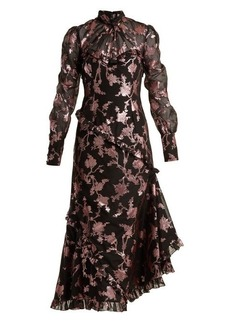 Erdem Faylin floral fil-coupe dress