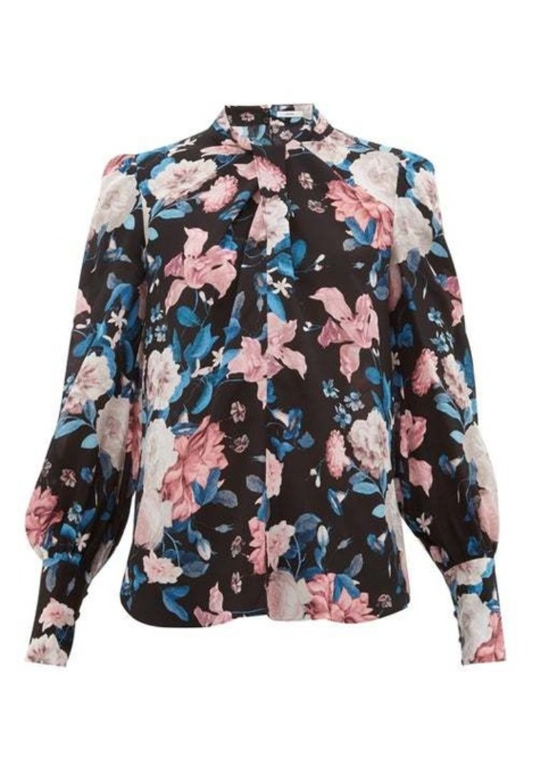 Erdem Fayola Dusk Bouquet-print silk crepe de Chine top