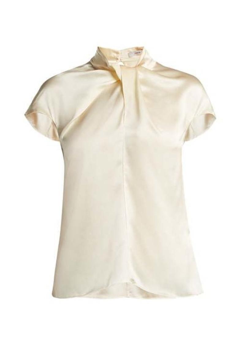 Erdem Fianna cap-sleeved silk blouse