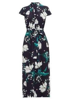 Erdem Finn Leighton tulip-print beaded crystal dress