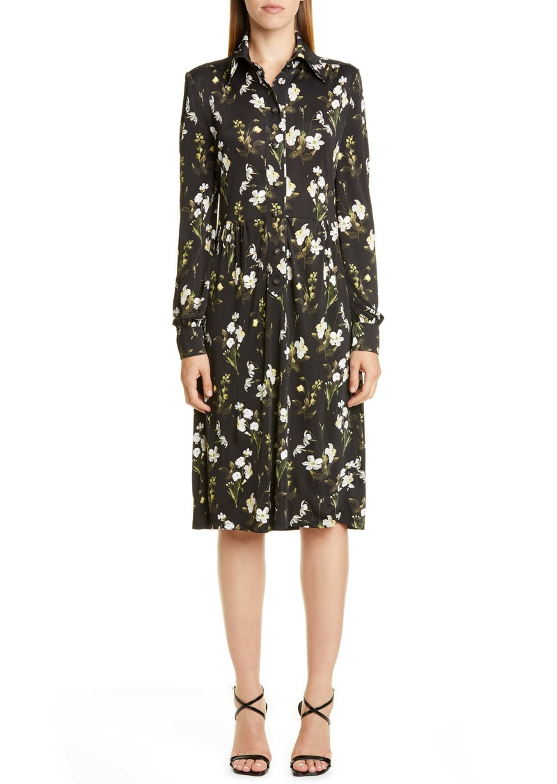 Erdem Floral Long Sleeve Shirtdress