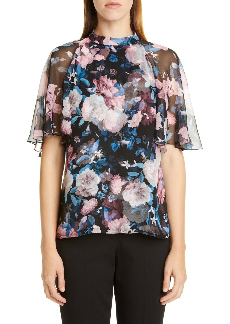 Erdem Floral Silk Chiffon Blouse
