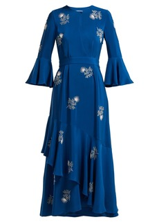 Erdem Florence bead-embroidered silk dress