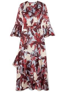 Erdem Florence ruffled printed silk-satin midi dress