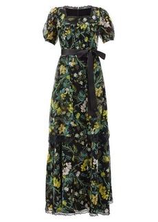 Erdem Florencia Ashcombe Forest-print silk gown