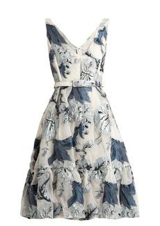 Erdem Gaby floral-print fil coupé dress