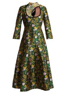 Erdem Geneva Rose-jacquard dress