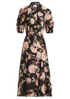 Erdem Gisella Dutch Petal-print midi dress