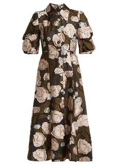 Erdem Gisella peony fil-coupé organza dress