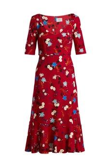 Erdem Glenys Hideko-print jersey dress