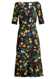 Erdem Glenys Mariko Meadow-print jersey midi dress