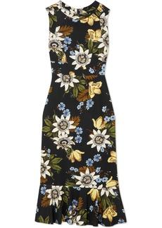 Erdem Grazia floral-print stretch-ponte dress