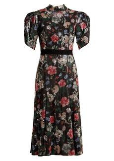Erdem Hael sequin and crystal-embellished dress
