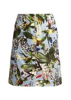 Erdem Hayden Fassett Dream-print mini skirt