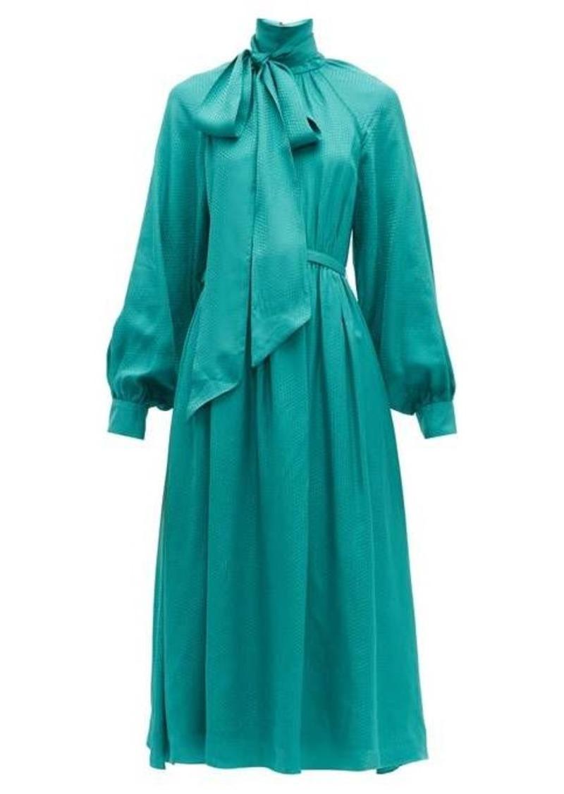 Erdem Heloisa polka-dot satin-jacquard midi dress