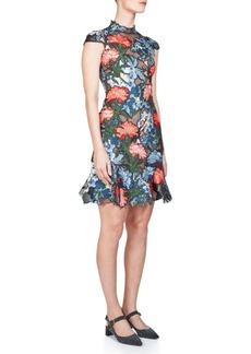 Erdem Hetty Floral Embroidered Silk Dress
