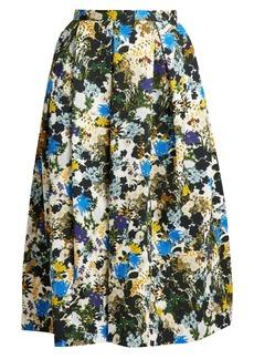 Erdem Ina Mariko Meadow-print floral skirt