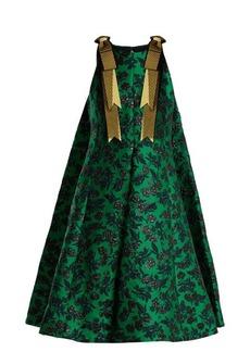 Erdem Indiana peony-jacquard bow-detail dress