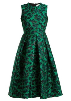 Erdem Indra peony-jacquard dress