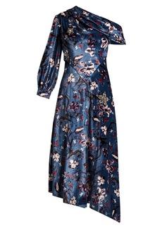 Erdem Jacobina Tulip Dream-print velvet gown