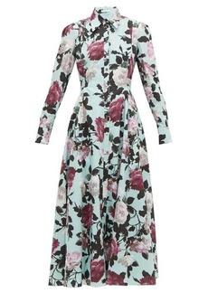 Erdem Josianne floral-print cotton-poplin shirtdress