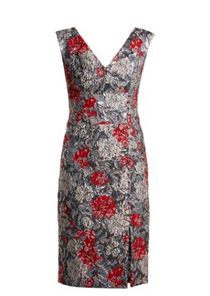 Erdem Joyti rose-jacquard dress