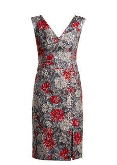 Erdem Joyti rose-jacquard dress