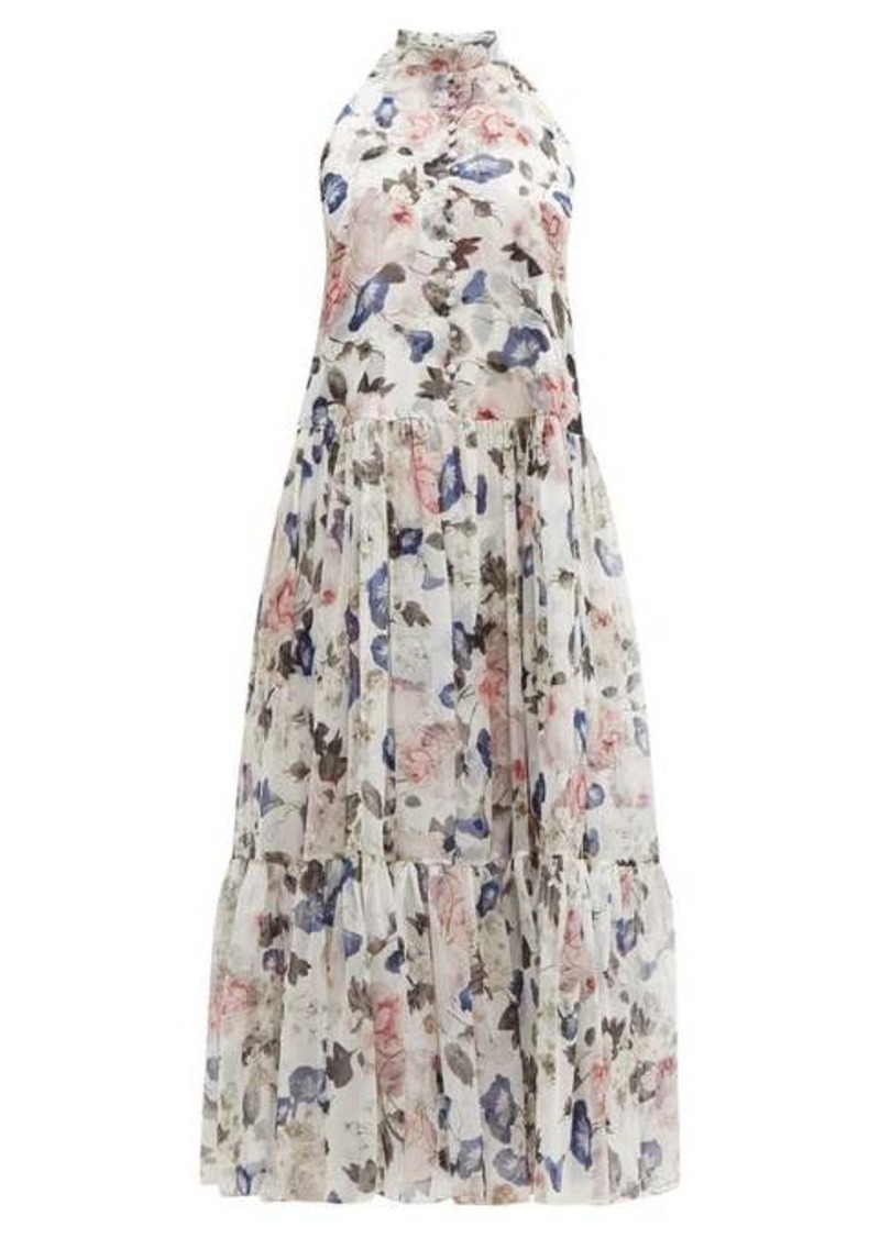 Erdem Julianne Apsley floral-print silk-voile midi dress
