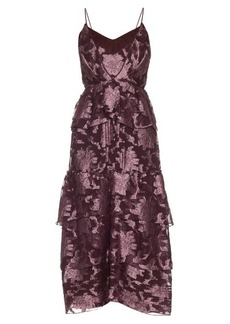 Erdem Justina Posey fil-coupé silk-chiffon gown